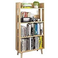 HLL 本棚、書棚mdf多機能フロアスタンドの多層ブックシェルフ、5色,A.