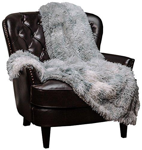 Chanasya Manta de piel sintética Sherpa – Variación de color de mármol impreso – Manta de microfibra peluda peluda peluda plateada gris para sofá y sala de estar (50 x 65 pulgadas), Shabby Chic, Gris, 50x65 Inches, 1