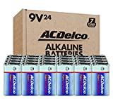 ACDelco 24-Count 9 Volt Batteries, Maximum Power Super Alkaline Battery, 7-Year Shelf Life, Recloseable Packaging
