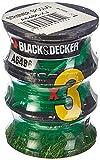BLACK+DECKER A6486-XJ - Pack de 3 bobinas de hilo para desbrozadora y cortabordes, 3 x 6 m