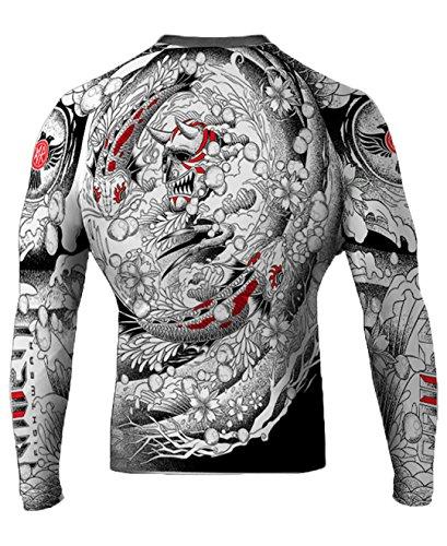 Raven Fightwear Men's Irezumi BJJ MMA Rash Guard Medium White