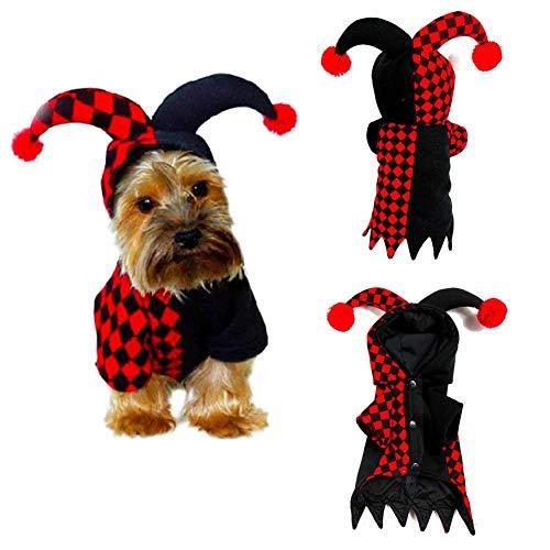 Costume per Halloween da gatto, per animali domestici, cani, cosplay, feste, clown, chitarrista, coccinella (1 confezione) s
