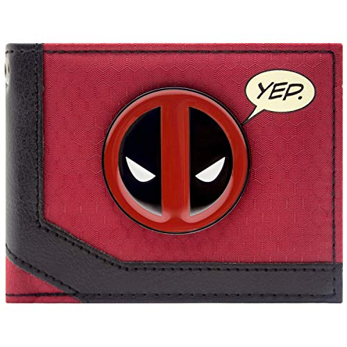 Marvel Deadpool Merc mit einem Mund Rot Portemonnaie Geldbörse