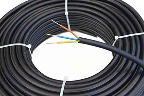 Waskönig+Walter Starkstromkabel NYY-J 3x1,5mm² Kabel | 20m Ring, 3 adriges Erdkabel nach DIN VDE 0276-603
