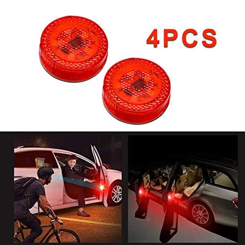 Maso Lot de 4 feux d'avertissement LED rouges universels pour porte de voiture Installation facile et étanche