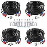 ANNKE Paquete 4pcs Cable 30m/100 pies de BNC Video Fuente de...