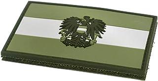 STEINADLER Klettflagge Österreich PVC  Klettflächen Patch als Emblem für Armee, Uniform und Jacke   Flagge mit Österreich Wappen (oliv grün)
