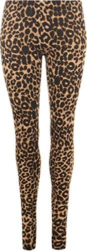 LessThanTenQuid - Leggings - para Mujer marrón Brown Leopard Print