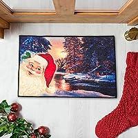 Mimgo-shop ユニーク クリスマス ドアマット インドア/アウトドア クリスマス ウェルカムマット ゴム裏地 滑り止め クリスマス ホームデコレーション 23.6インチ x 15.7インチ (サンタクロース)