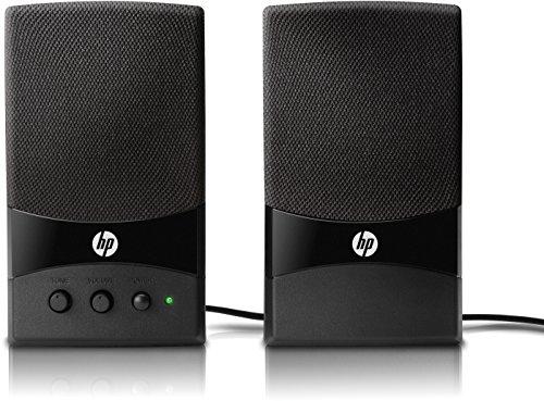 HP (GL313AA) Mulitmedia Lautsprecher (Freier USB-Anschluss 1.1 oder 2.0, Frequenzgang: 60 Hz - 18 KHz) schwarz