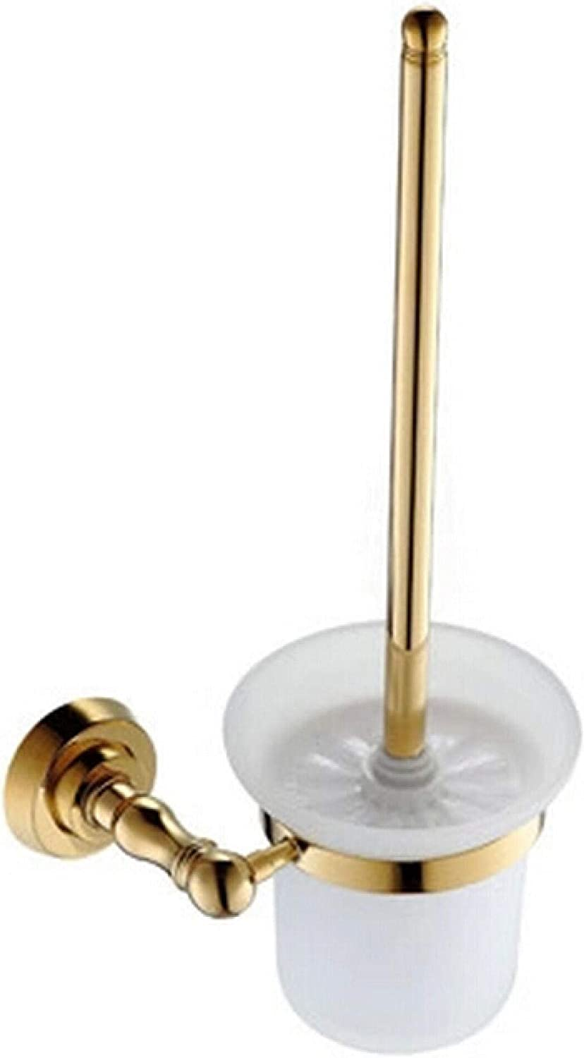 Spring new work LIMEI-ZEN Max 65% OFF Gold Finish Bath Bathroom Brush Cup Hol Suction Toilet