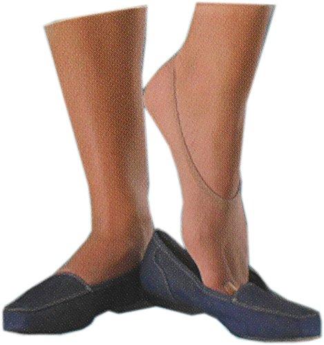 WILOX Damen Füsslis 20 DEN 30 Paar Füßlinge Ballerina Footies Füßlis Damensocken (Champagner)
