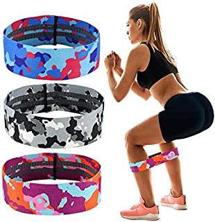 HANDAIYAN Resistance Bands for Legs and Butt Exercise Bands Set Booty Bands Hip Bands Wide Workout Bands Resistance Loop B...