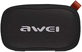 awei Y900 Mini Portable Wireless Bluetooth Speaker Noise Reduction Mic, Support TF Card / AUX - Black