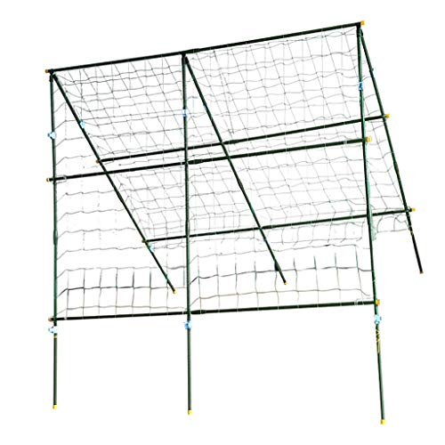 RuBao Adjustable Garden Arch A Frame Kit Grass Green with Crawling Net,Grape Rack Inner Steel Material for Plant Fruit Climbing Pergola Arbor Trellis Decoration