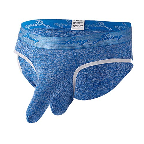 Dorical Herren Sexy Unterwäsche für Sex Soft Slip Unterhosen Knickers Shorts Sexy Unterhosen Herren Retroshorts Boxershorts Mikrofaser Kollektion Herren Unterwäsche/Boxershorts(Blau,X-Large)