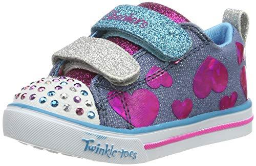 Skechers Mädchen Sparkle Lite Sneaker, Mehrfarbig (Denim/Multi Dmlt), 22 EU