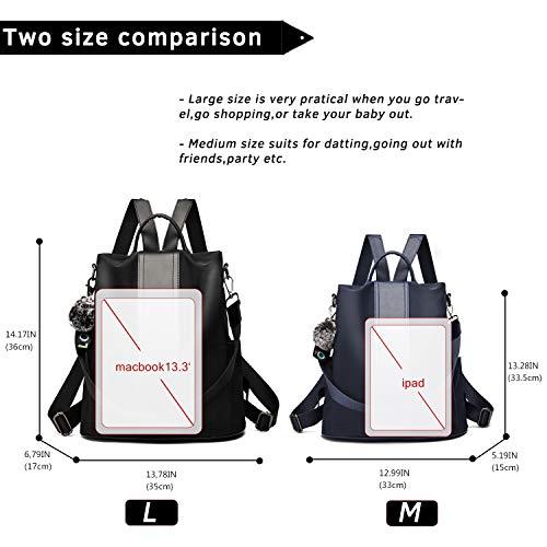 TcIFE Backpack Purse for Women Fashion School Purse and Handbags Shoulder Bags Nylon Anti-theft Rucksack