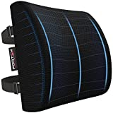 Fortem Lumbar Support Office Chair, Lumbar Support Pillow for Car, Office Chair Back Support, Lumbar Pillow for Desk Chair, Memory Foam Back Cushion, Washable Cover