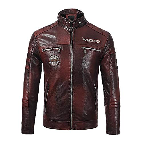 Men's New Men's Outerwear Motorcycle wear and Plush Leather Jacket for Men