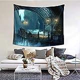 Tapiz para decoración del hogar RROOT BLOODBORNE de acción lucha gótica supervivencia apocalíptica de 60 x 51 pulgadas, 1 color, 60*51inch