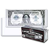 BCW 50 Currency Deluxe Holders Semi Rigid Vinyl for Banknotes Money Dollar Bill