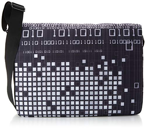 Luxburg® Design Umhängetasche Umhängetasche College Daily Bag 17,3 Zoll, Motiv: Binar
