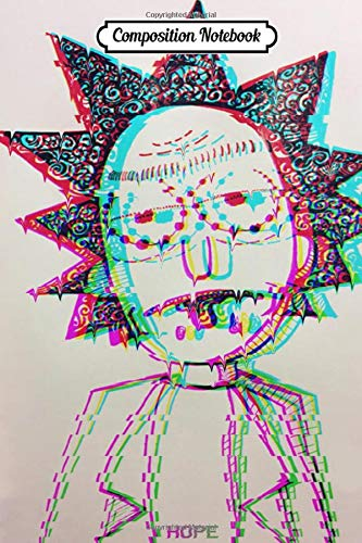 Rick and Morty Glitch, Vaporwave, Error Vol.18 Journal/Notebook College Ruled 6x9 120 Pages