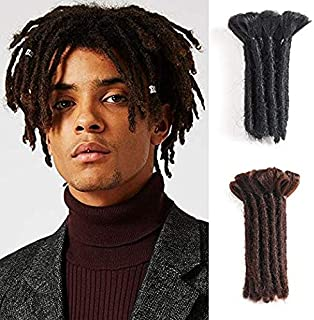 Dreads Handmade Synthetic Dreads Black Dreadlocks Extensions 15CM Fashion Hip-Hop Style 15 Strands/Pack Synthetic Braiding Hair From Maya Culture For Men (M2)