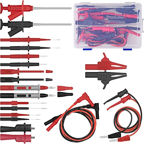 Digital Multimeter Test Lead Kits sharp Flexible Safety Specialties kit Probe Alligator Accessorie