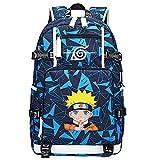 ZZGOO-LL Uzumaki Naruto/Sharingan USB Anime Cosplay Bookbag College Bag Mochila Backpack Escolar-F