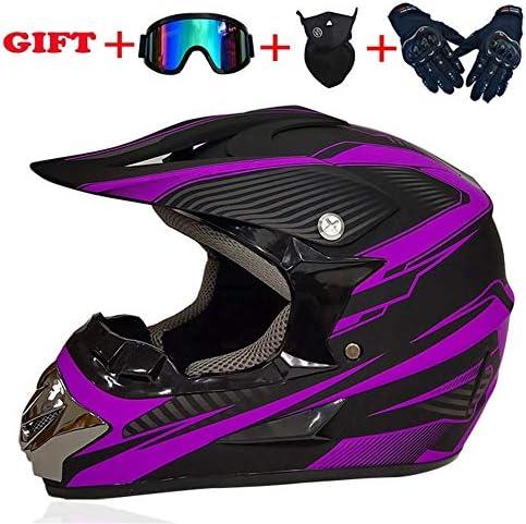 occhiali di protezione con guanti maschera Casco integrale da motocross con occhiali per downhill Bike ATV BMX L unisex SYANO Casco da motocross per bambini