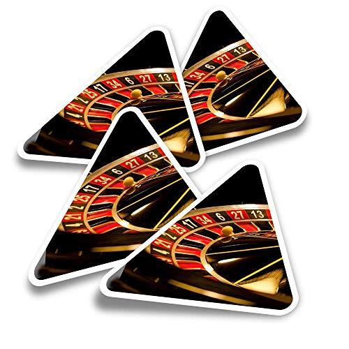 Pegatinas triangulares de vinilo (juego de 4) – Pegatinas divertidas para laptops, tabletas, equipajes, reservas, neveras #3625