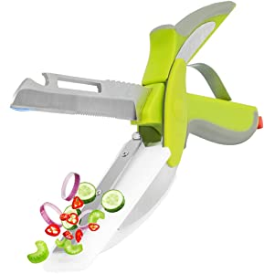 Clever Cutter 6in1 Salad Chopper Scissors With Cutting Board, Multifunctional Detachable