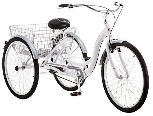 Schwinn Meridian Adult Trike, Three Wheel Cruiser Bike, 1-Speed, 26-Inch Wheels, White
