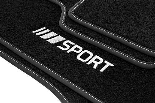 Motohobby Sport Velour Fußmatten Satz für Mercedes-Benz C-Klasse W203 (2000-2006) - 4-teilig - Passgenau