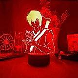 BZL POP Lámpara de ilusión de luz Nocturna de Anime 3D, lámpara de Otaku con Silueta de Príncipe Zuko, Novedad Led para decoración de Escritorio de Dormitorio de niños, Control Remoto de 16 Colores