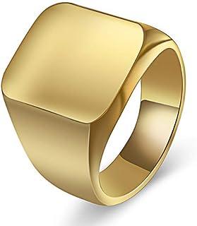 خاتم فان يونيكو من الستانلس ستيل للرجال - خاتم بينكي مصقول مقاس 4-15