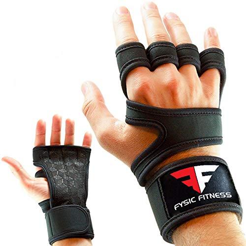 Fitness Handschuhe Trainingshandschuhe Atmungsaktiv Mit Handgelenkstütze und Anti Rutsch Gewichtheben, Krafttraining, Gym, Crossfit, Calisthenics und Bodybuilding Für Damen und Herren (S)