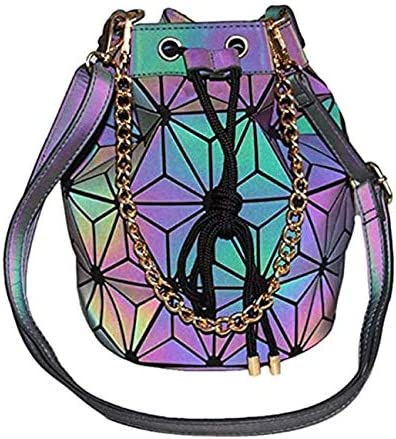Reflective Rainbow High Elegant order Crossbody Holographic Handbag Bucket Luminous