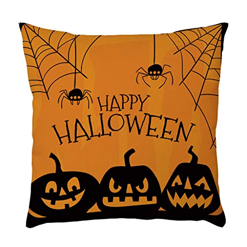 YWLINK Funda Decorativa Almohada Lino Duradero ExtraíBle CojíN del Sofá CojíN De La Cintura Funda De Almohada DecoracióN De La Sala De Estar DecoracióN De Halloween