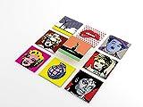 Tink - Adesivi in PVC per piastrelle, cucina, bagno, superfici in legno, scale (10 x 10 cm), 20 pezzi, motivo pop art