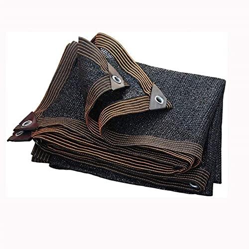 XQMY Ombra Net Black Sun Shade Netting Fabric Plant, Che Protegge la Privacy dai Raggi UV, utilizzata nel Balcone per Animali Domestici e in Altri luoghi (Colore: Nero, Dimensioni: 3x5m (10 * 16ft))