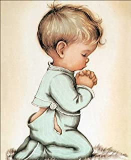 Little Boy Praying Paper Tole 3D Decoupage Crafdt Kit 8x10 40324