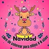 Navidad Libro de colorear para niños 4-8 años: Navidad para los niños, regalo de Navidad para los...