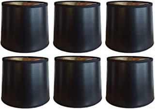 Upgradelights Black with Gold 6 Inch Tapered Drum Clip On Chandelier Lampshades (Set of six) 5x6x5