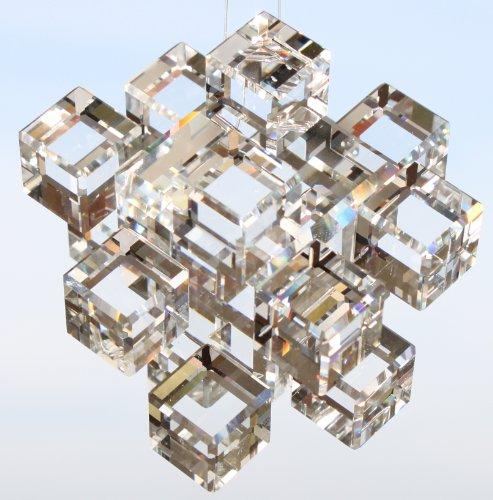 Swarovski Elements Cube/Tuercas 63mm–con Logo láser endografiertem–Arco iris Cristal–cajita–Vidrio Cristal