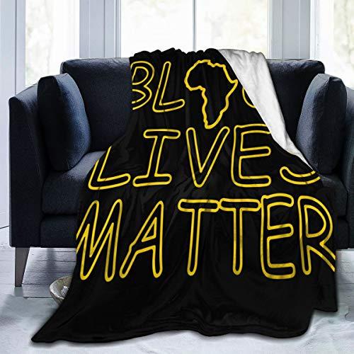 diy-nncase Throw Black Lives Matter Blanket Fit Chair- Fluffy Fleece Blanket Cozy for Travel