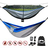 ARAER Double Camping Hammock, 660 Pounds Capacity, Sturdy Tree Straps Included, Easy to Setup, Portable and Lightweight for Outdoor Backpacking, Camping, Indoor Garden, Yard
