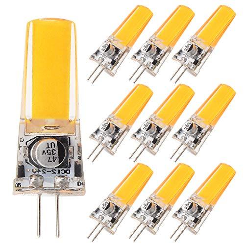 GRV G4 COB 2508 3.5W AC DC 12V 24 V Schrank LED Silikon Licht Kristall 30 W Leuchtmittel Halogen Track Ersatz, warmweiß, 12.00 volts